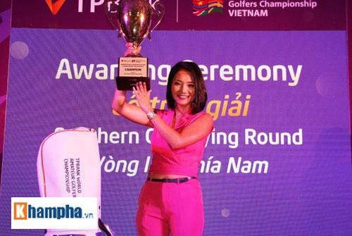 Chị Nguyễn Gia Bảo là người phụ nữ duy nhất giành chiến thắng