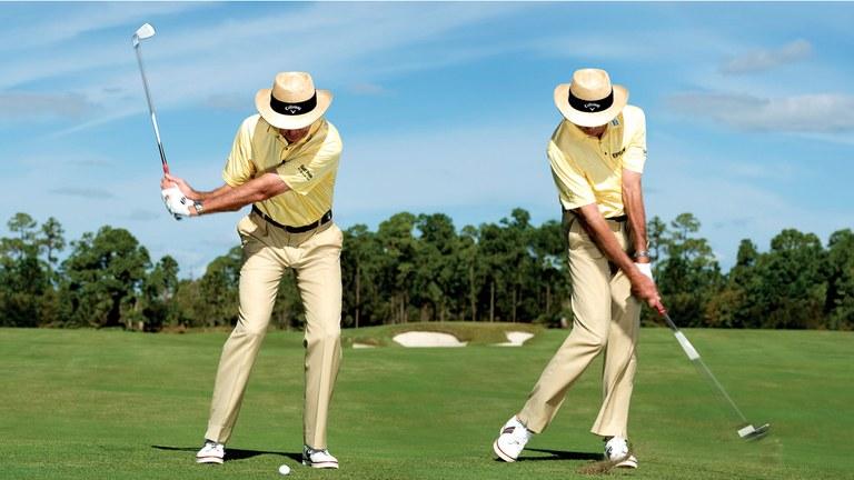 Tư thế chạm bóng khi đánh gậy golf số 7