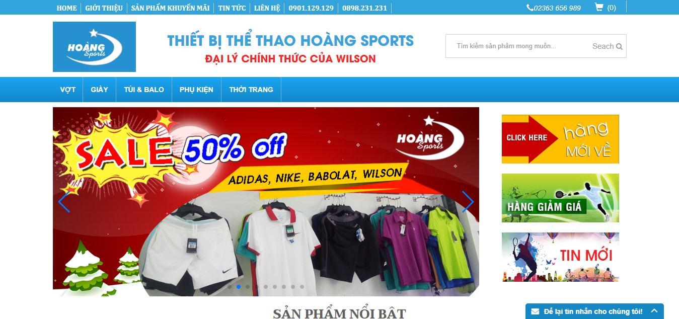 Trang chủ của cửa hàng Hoàng Sport bán gậy golf cũ