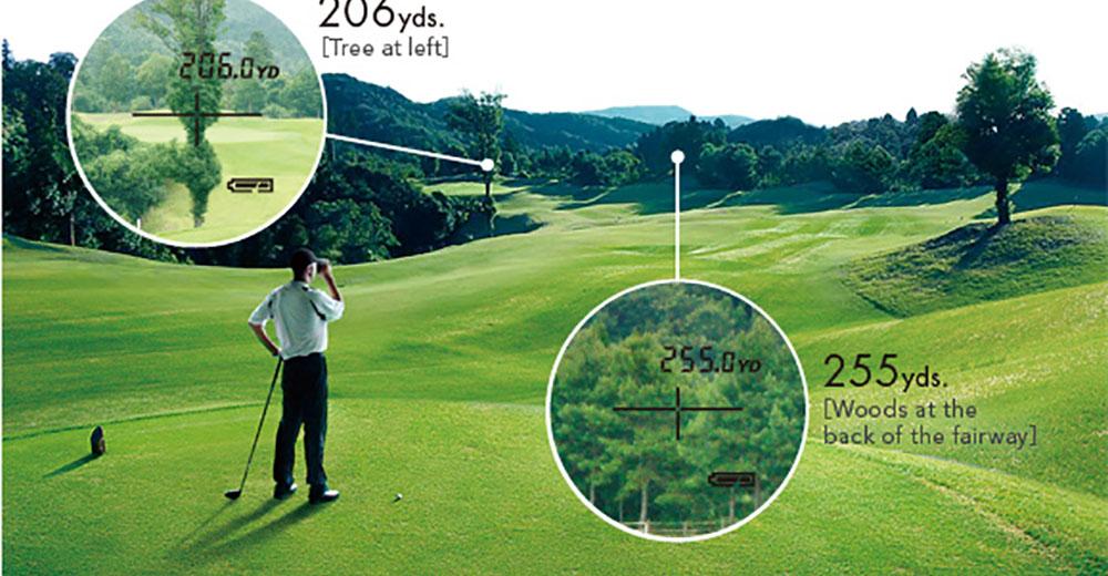 Ứng dụng của ống nhòm đo khoảng cách chơi golf