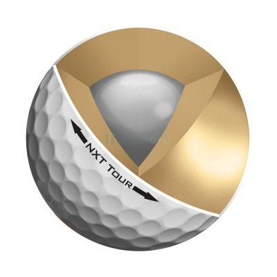 Cấu tạo bóng golf cũ 3 lớp