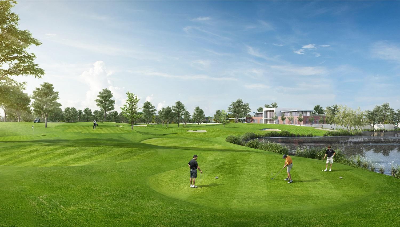 toàn cảnh học viện golf ecopark trên bản thiết kế