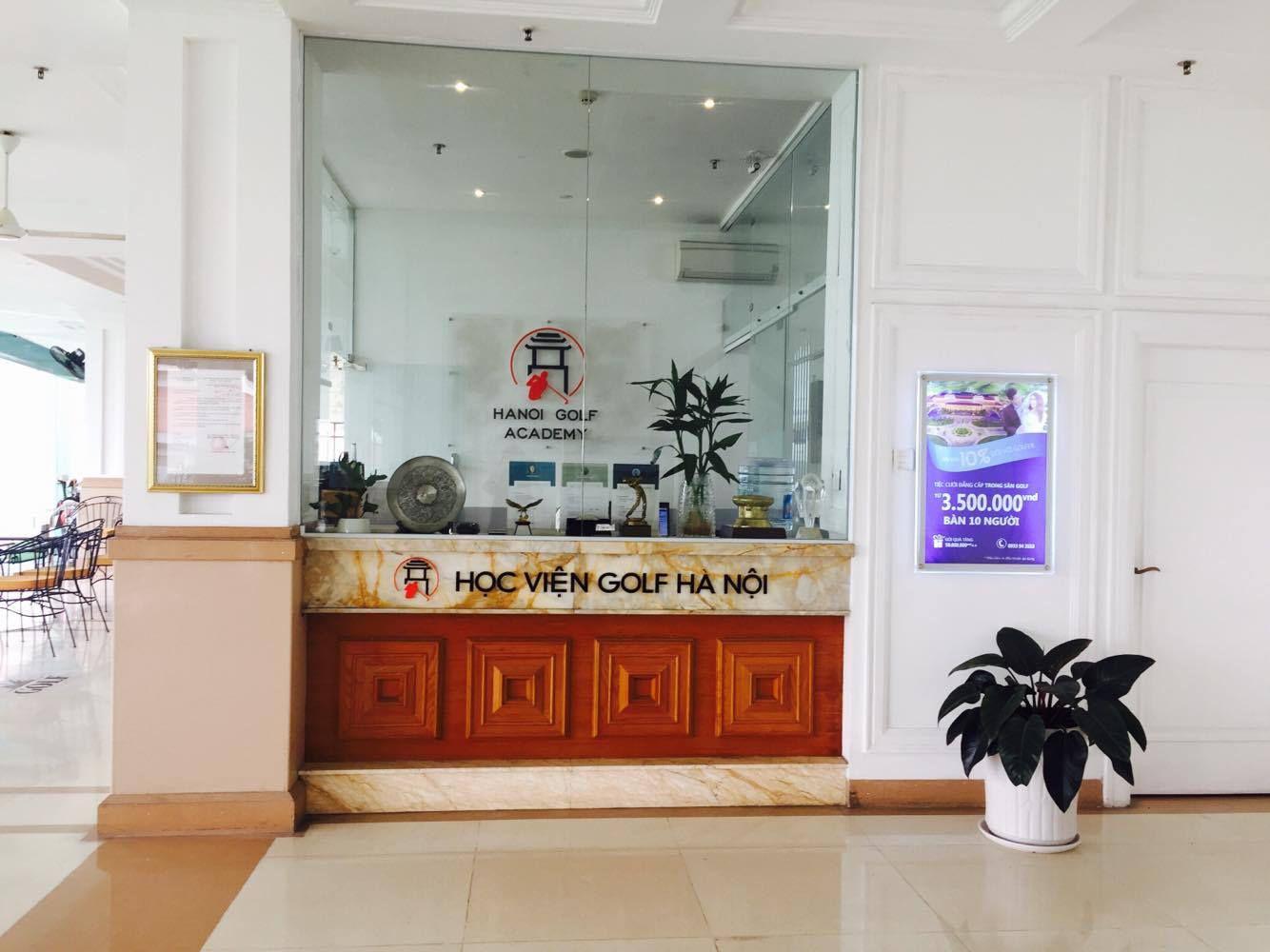 Sảnh của Học viện golf Hà Nội