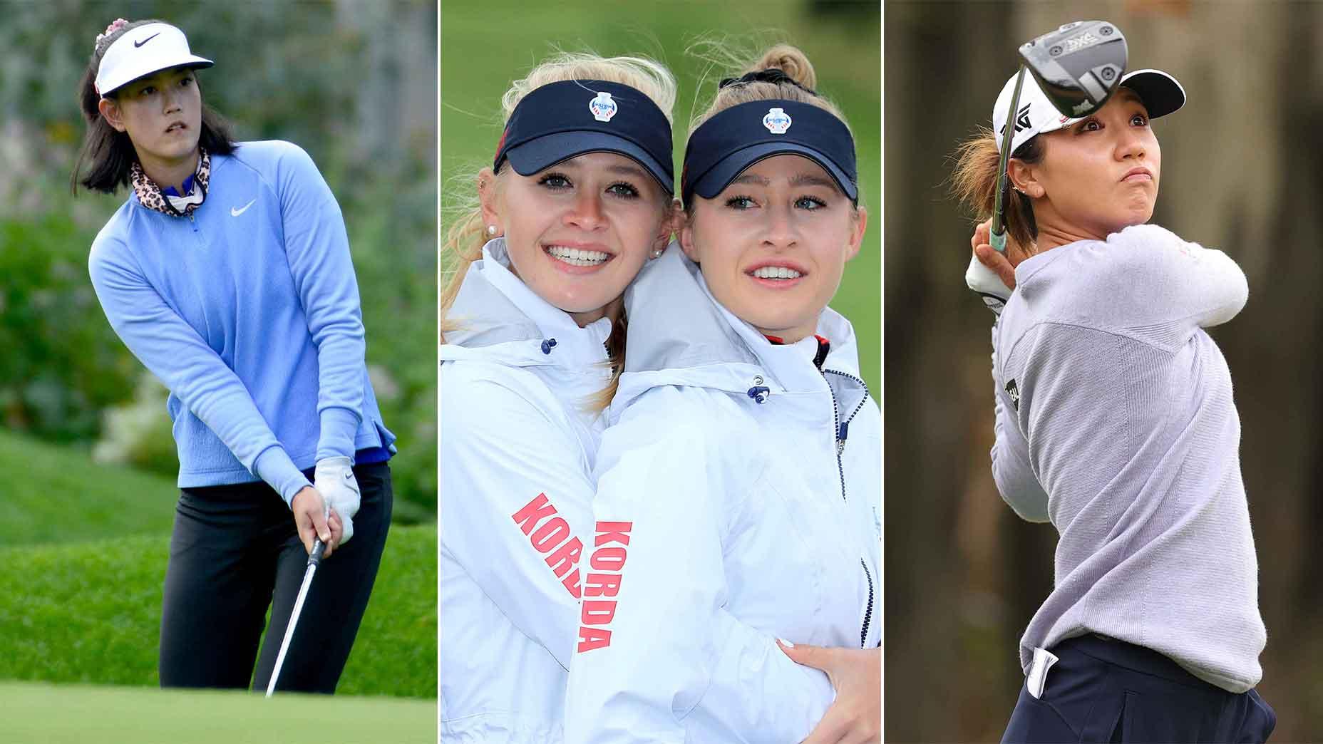 Michelle Wie (trái), chị em Jessica và Nelly Korda (giữa), và Lydia Ko tạo nên ba trong số những cốt truyện hay nhất để theo dõi tại giải US Women's Open 2021