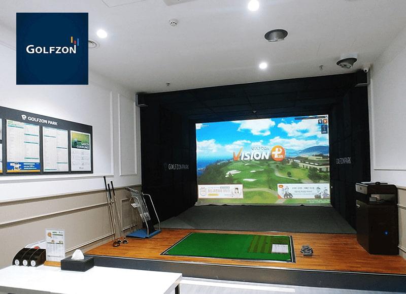 Phần mềm VISION của Golfzon sử dụng trong Golf 3D