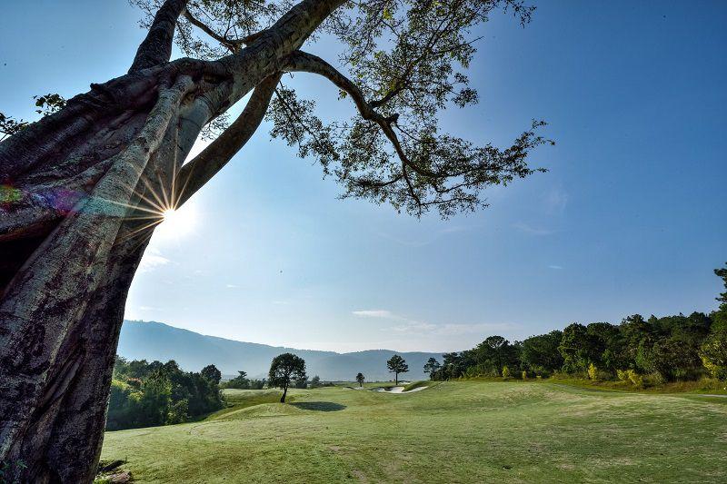 Sân golf Đà Lạt có vị trí địa lý khá độc đáo