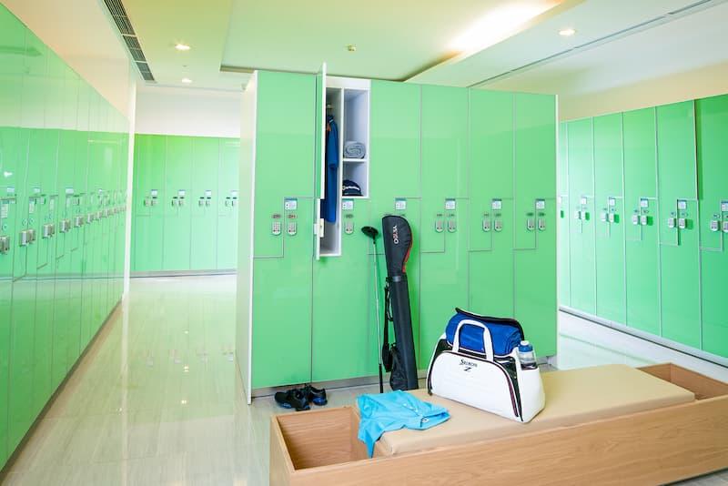 Phòng thay đồ sân tập golf Ciputa thiết kế xanh thân thiện với môi trường