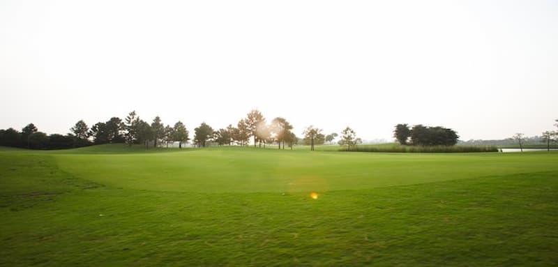 Hình ảnh Sân golf Vân Trì vào buổi sớm