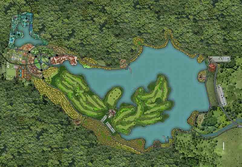Sân golf Thanh Lanh sở hữu thiết kế 18 lỗ tiêu chuẩn